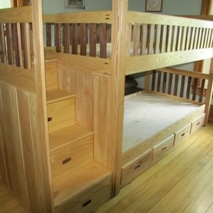 Cool Another alternative to this particular bed is to have a ladder on the end instead of steps or have a trundle bed under the bottom instead of the drawers